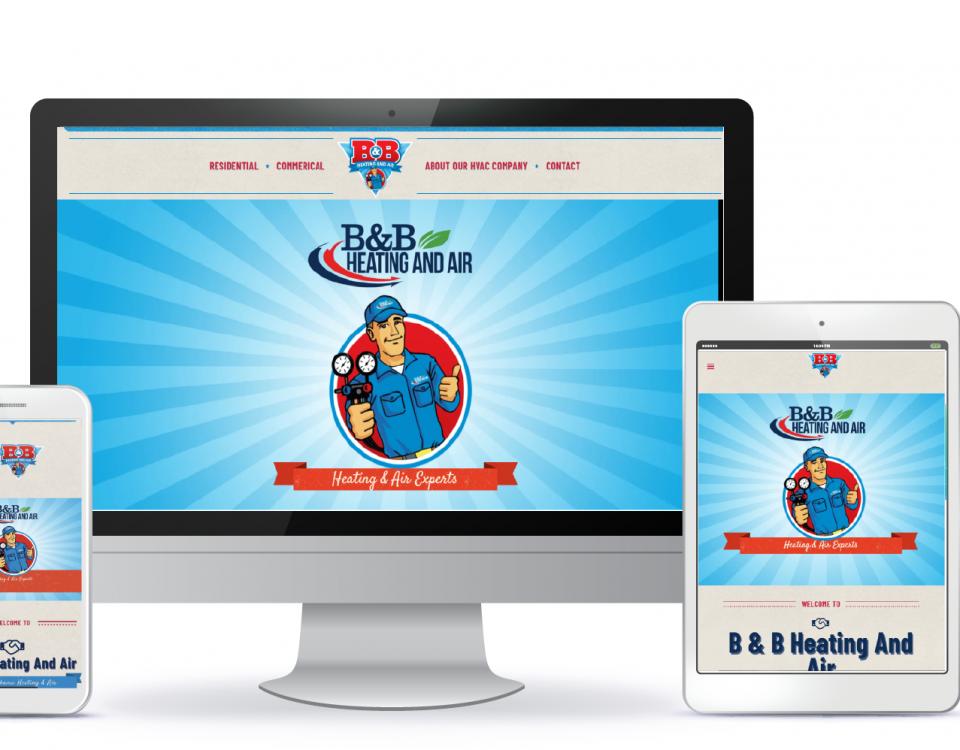 Birmingham web design by attraxios for B&B Heating and Air