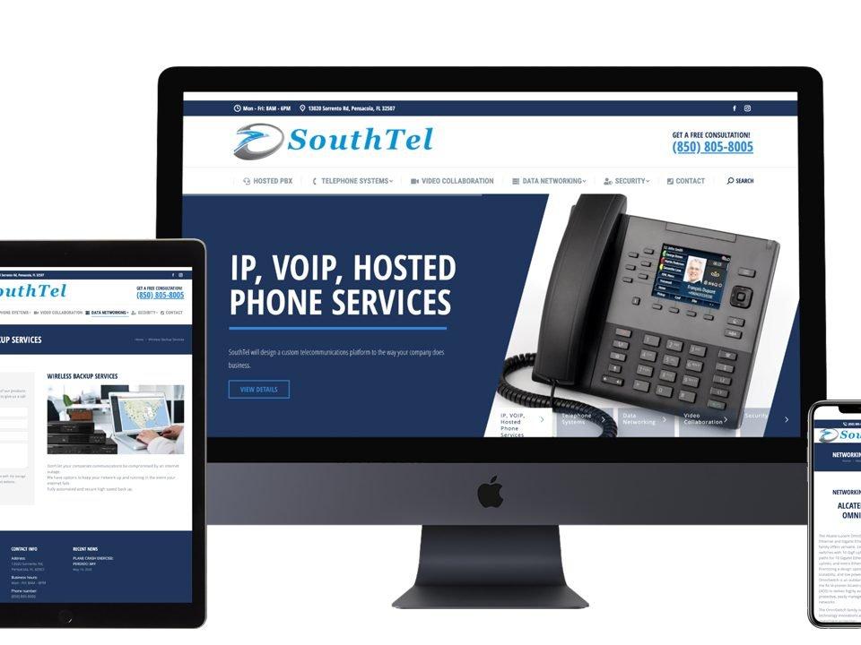 southtel communications website design pensacola