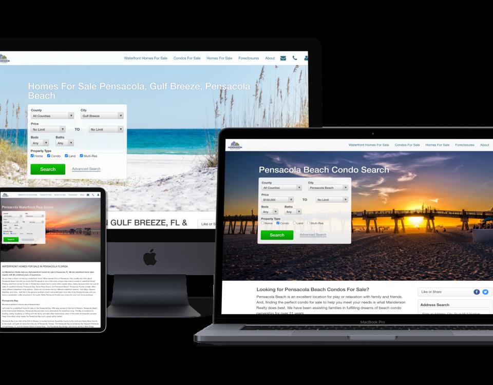manderson realty new gulf breeze web design